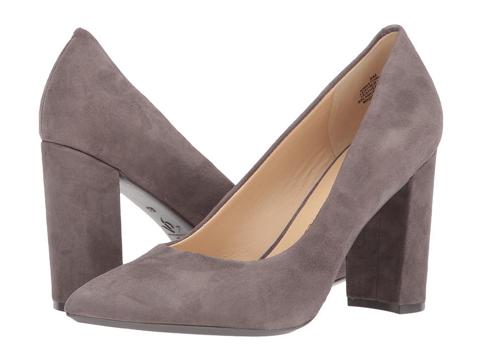Nine West Astoria Block Heel Pump (Dark Drey Suede) High Heels