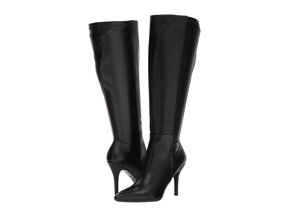 Nine West Fallon-Wide Shaft (Black Leather) Women