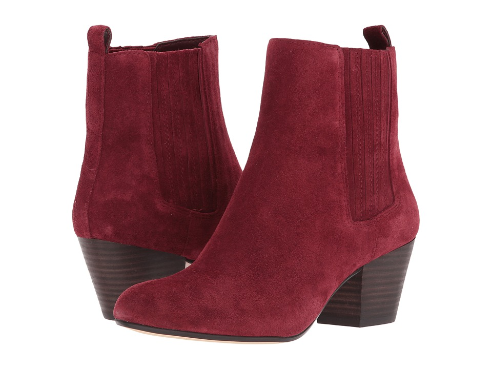 Nine West Haldi Bootie (Wine Suede) Women