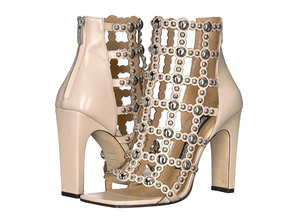 Sergio Rossi A79720-MFN205 (Var. Chalk Leather/Studs) High Heels