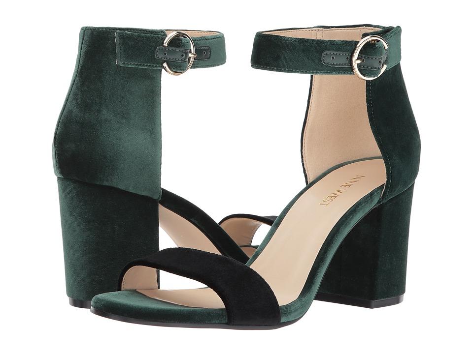 Nine West Gary (Green/Black Fabric) Women