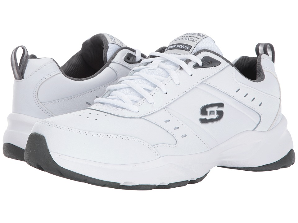 SKECHERS - Haniger (White/Charcoal) Men's Shoes