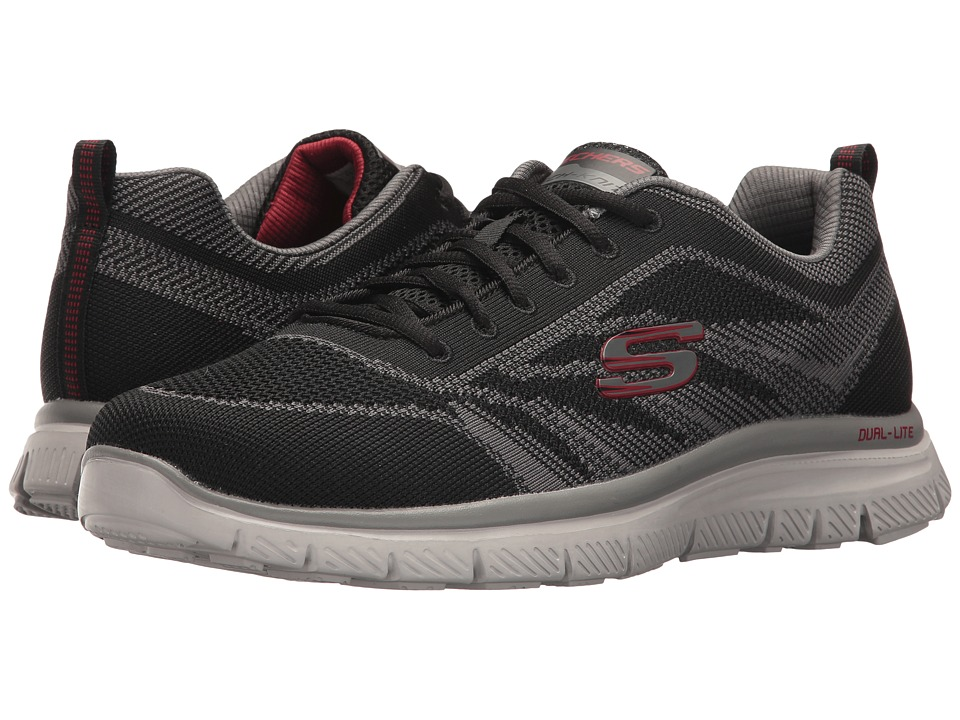 SKECHERS - Flex Advantage 1.0 Fator (Black/Charcoal) Men's Shoes
