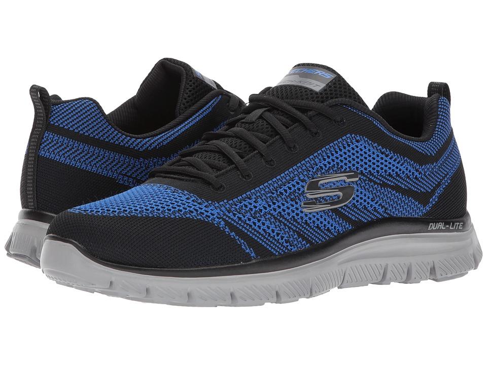 SKECHERS - Flex Advantage 1.0 Fator (Black/Royal) Men's Shoes