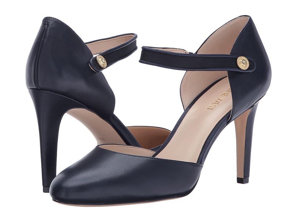 Nine West - Hansine (Navy/Black Leather) High Heels