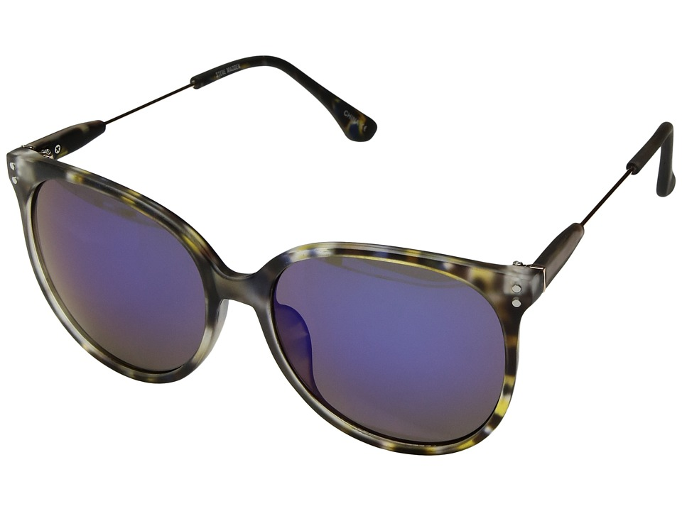 Steve Madden - Paige (Tortoise Blue) Fashion Sunglasses