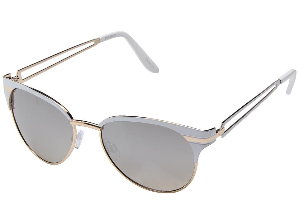 Steve Madden - Sammi (White) Fashion Sunglasses