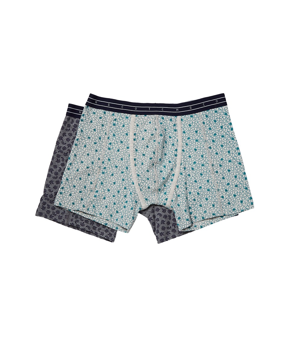 Scotch & Soda - Boxer Shorts with All Over Print on Melange Base (Combo C) Men's Underwear