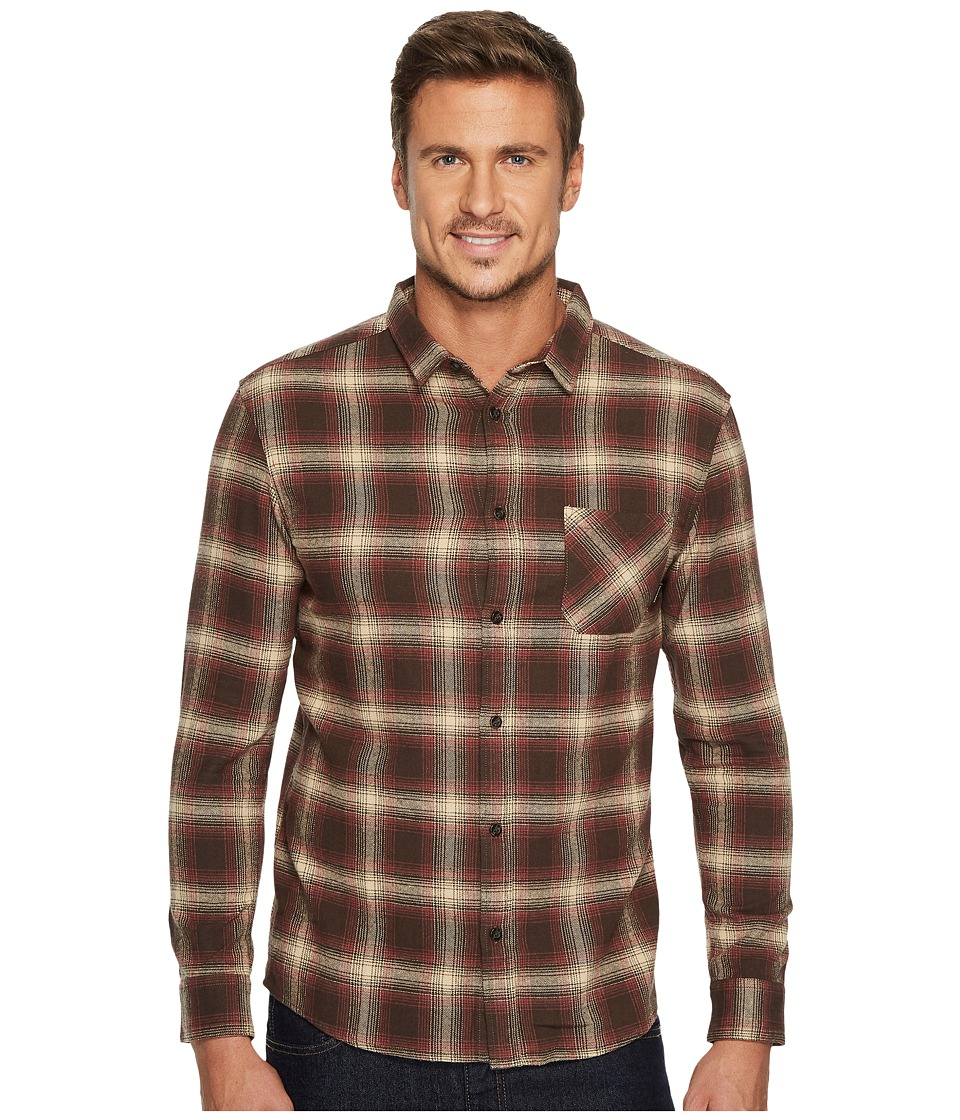 Quiksilver Fatherfly Brushed Flannel (Chocolate) Men