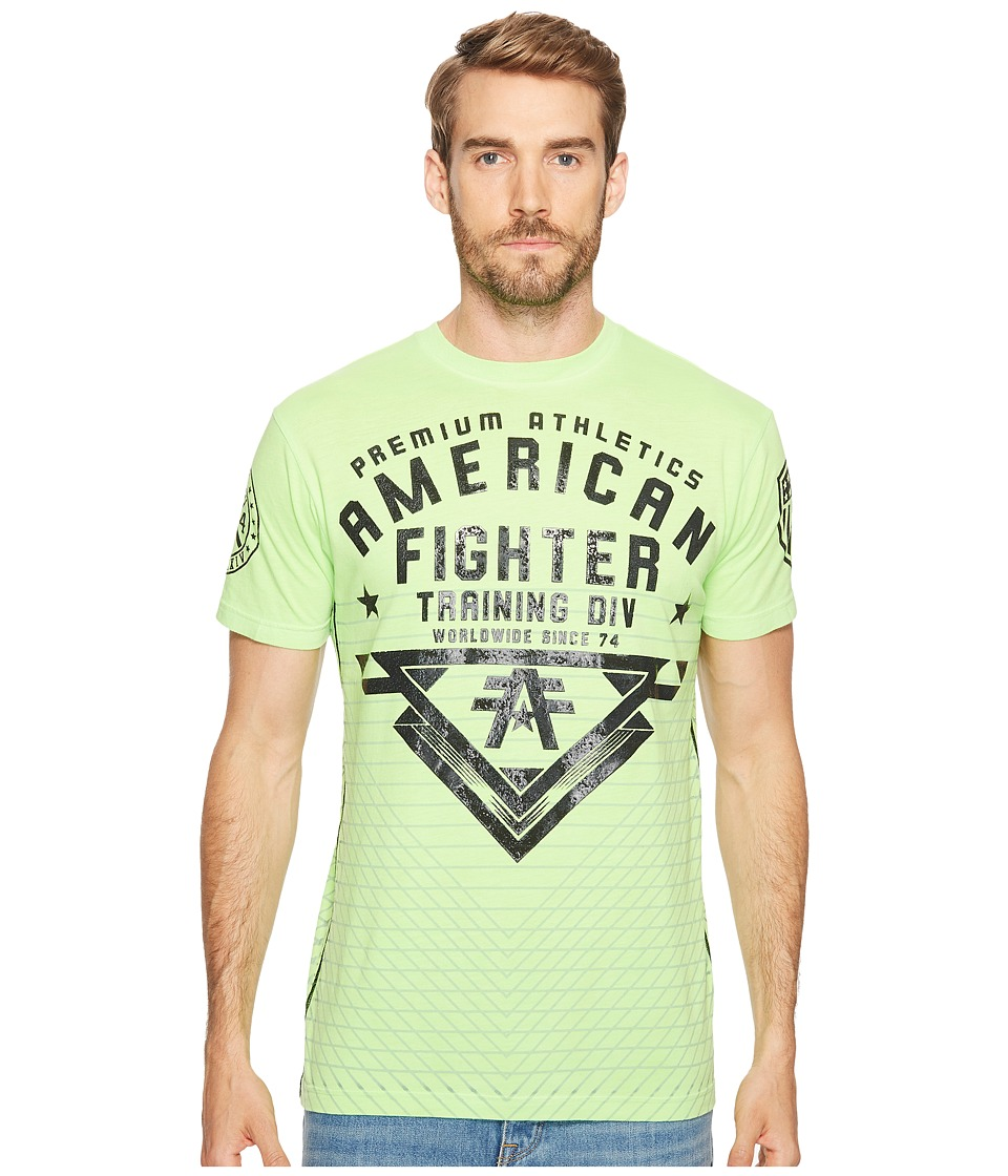 American Fighter - Mansfield Short Sleeve 50/50 Tee (Lime) Men's T Shirt