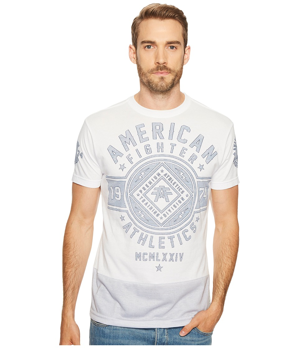 American Fighter - Chestnut Hill Camo Mirage Short Sleeve Tee (White) Men's T Shirt