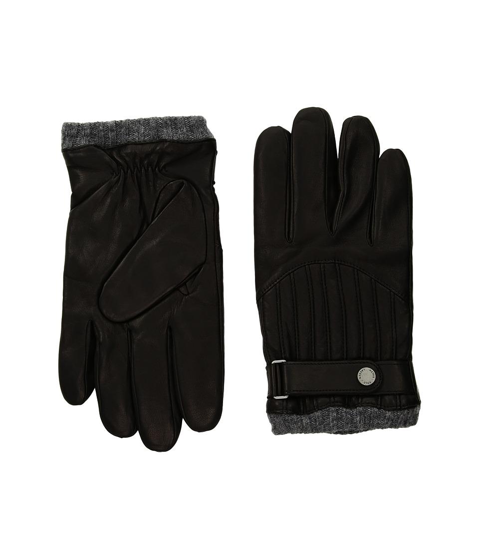 Polo Ralph Lauren Quilted Racing Gloves (Ralph Lauren Black) Wool Gloves