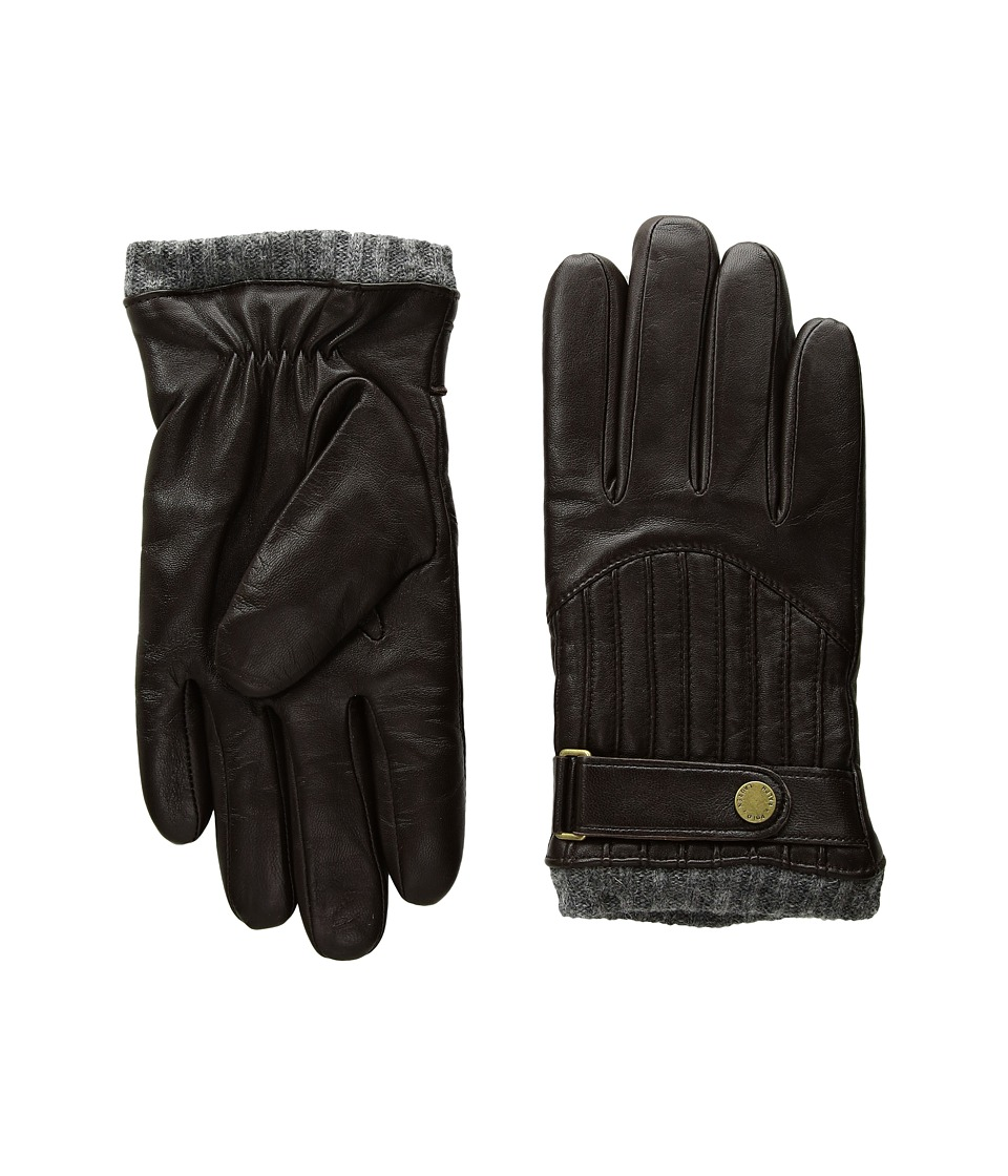 Polo Ralph Lauren Quilted Racing Gloves (Circuit Brown) Wool Gloves