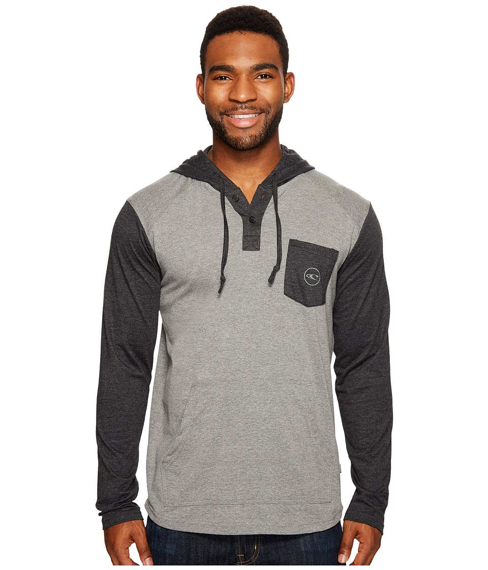 O'Neill - The Coast Hooded Henley Knits (Grey) Men's Clothing