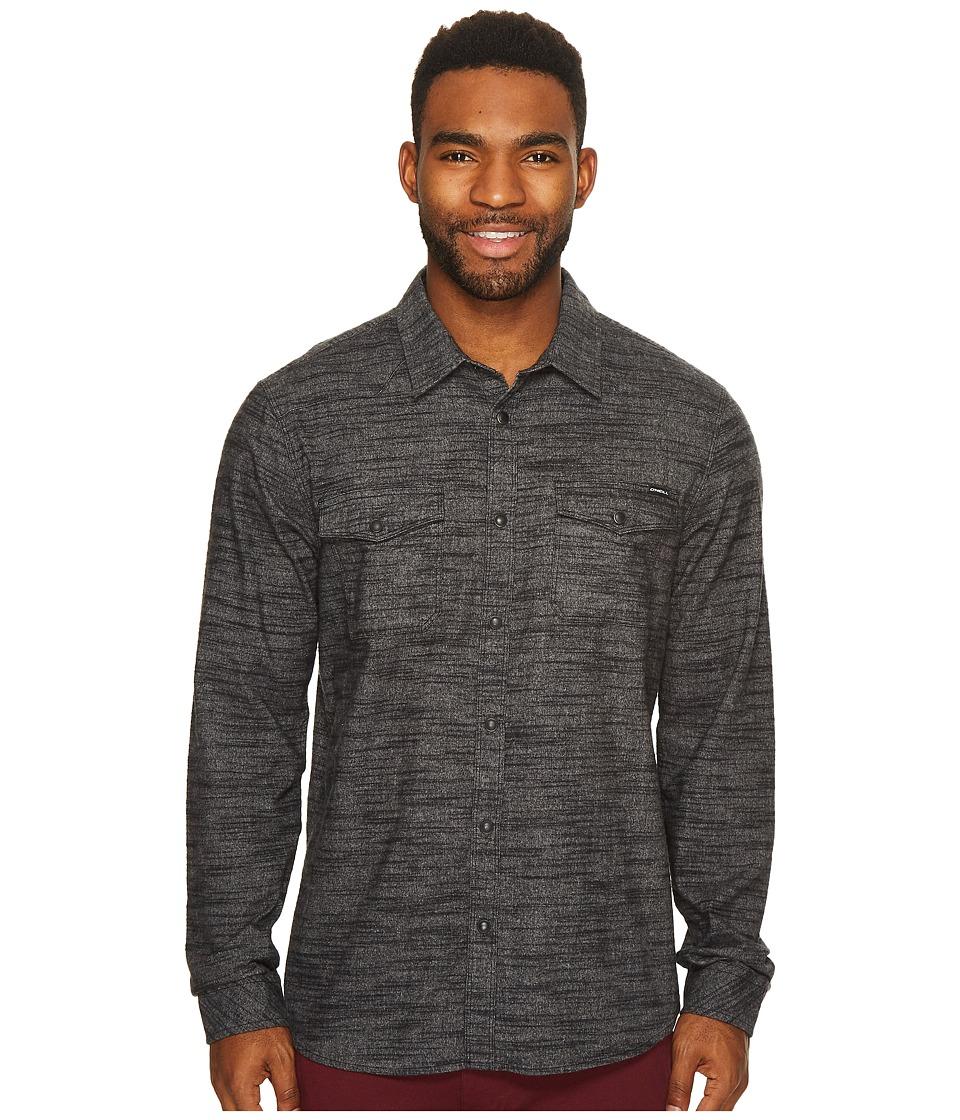 O'Neill - Gates Flannel Wovens (Black) Men's Short Sleeve Button Up