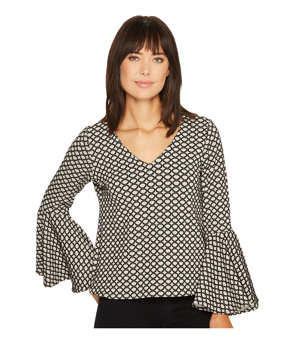 Karen Kane - Jacquard Bell Sleeve Top (Jacquard) Women's Clothing