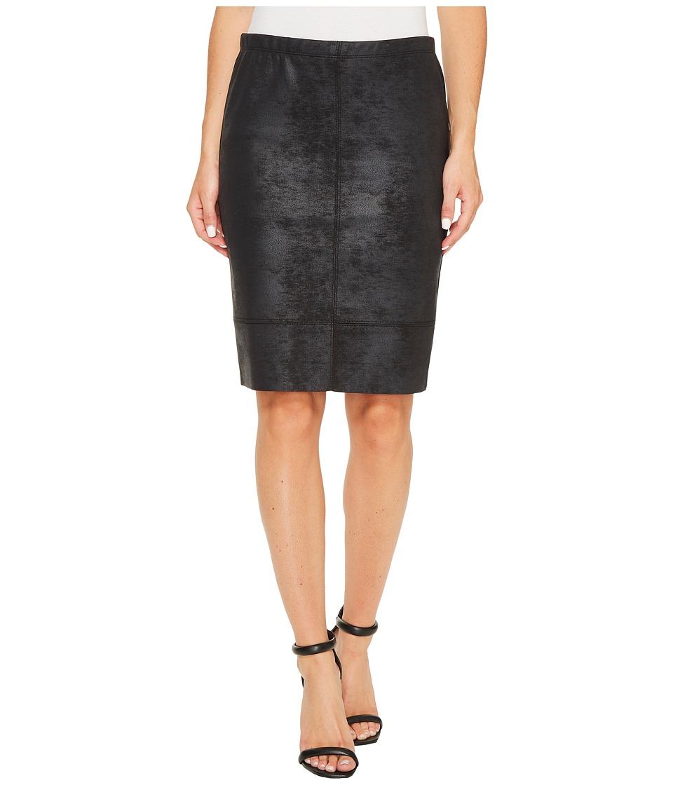 Karen Kane - Stretch Faux Leather Skirt (Black) Women's Skirt