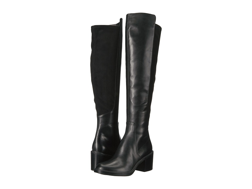 Nine West Nacissa (Black/Black Leather) Women