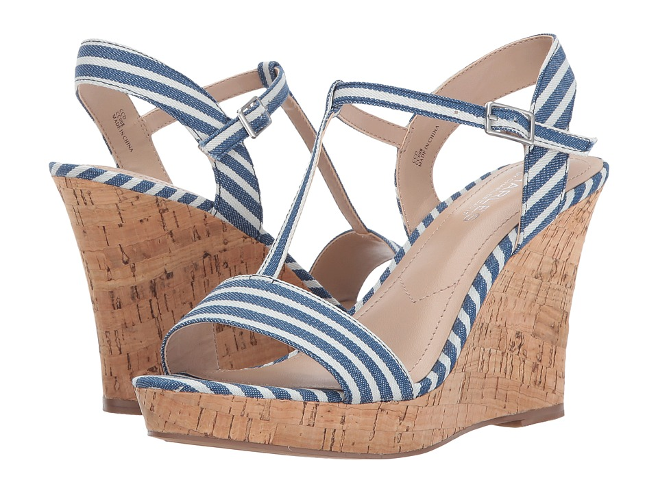 Charles by Charles David - Libra (Navy Stripped) Women's Wedge Shoes