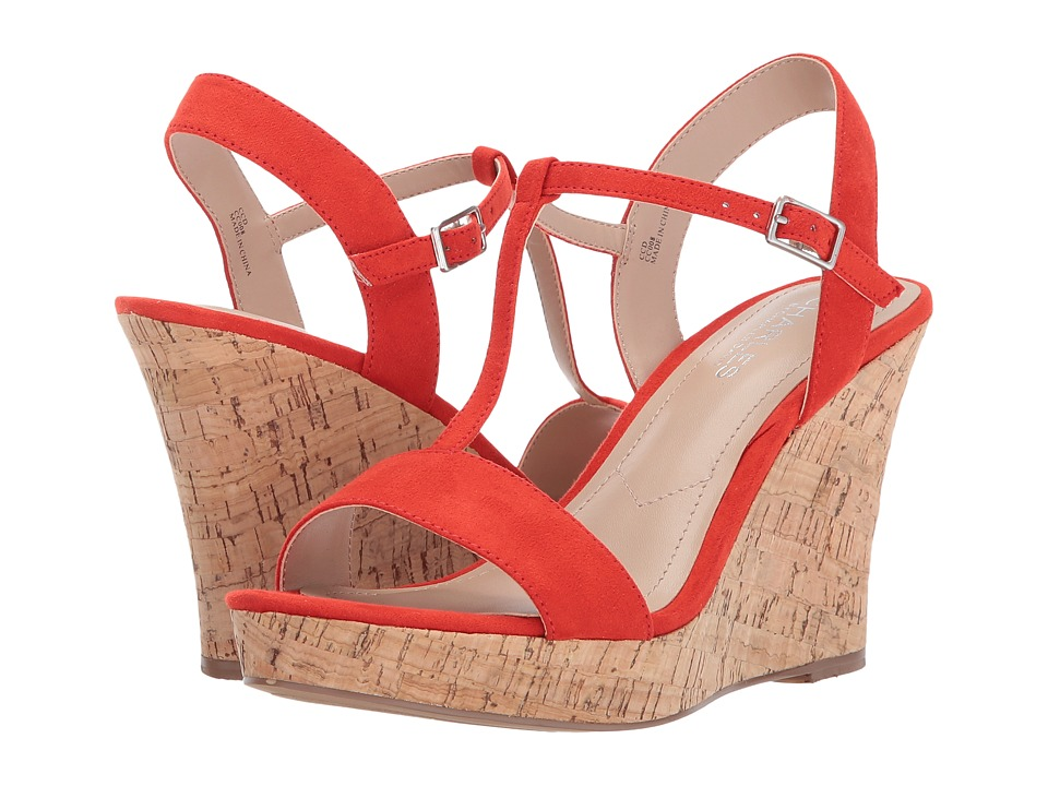 Charles by Charles David - Libra (Fire Red) Women's Wedge Shoes
