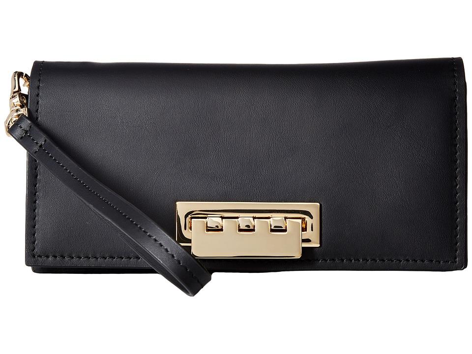 ZAC Zac Posen - Earthette Wristlet Wallet Solid (Black) Wallet Handbags