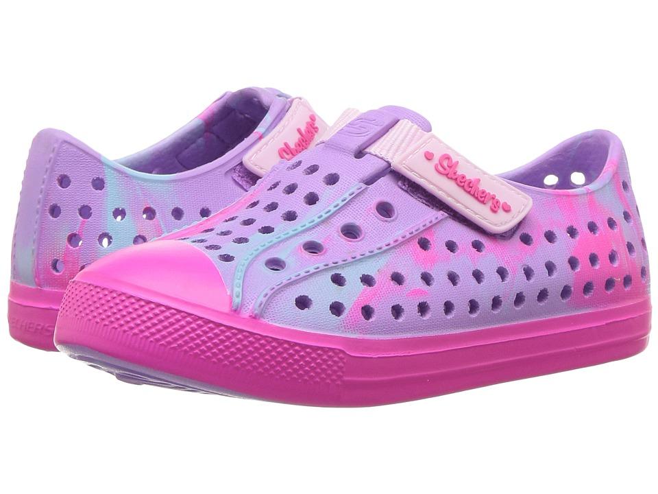 SKECHERS KIDS - Guzman - Marbleized (Toddler) (Hot Pink/Multi) Girl's Shoes