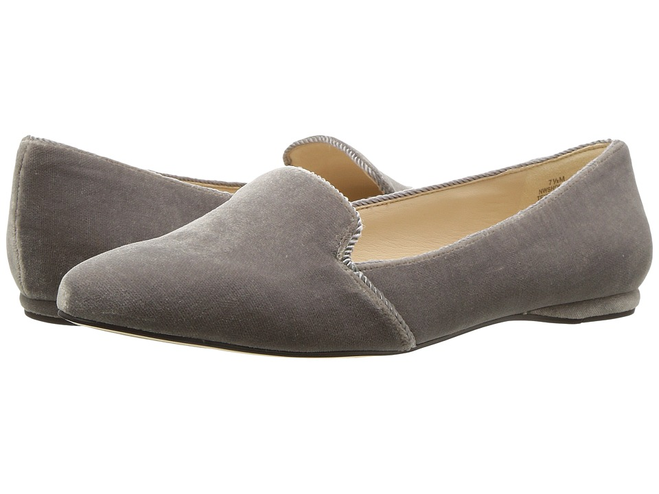 Nine West - Sholette (Dark Grey Fabric) Women's Flat Shoes