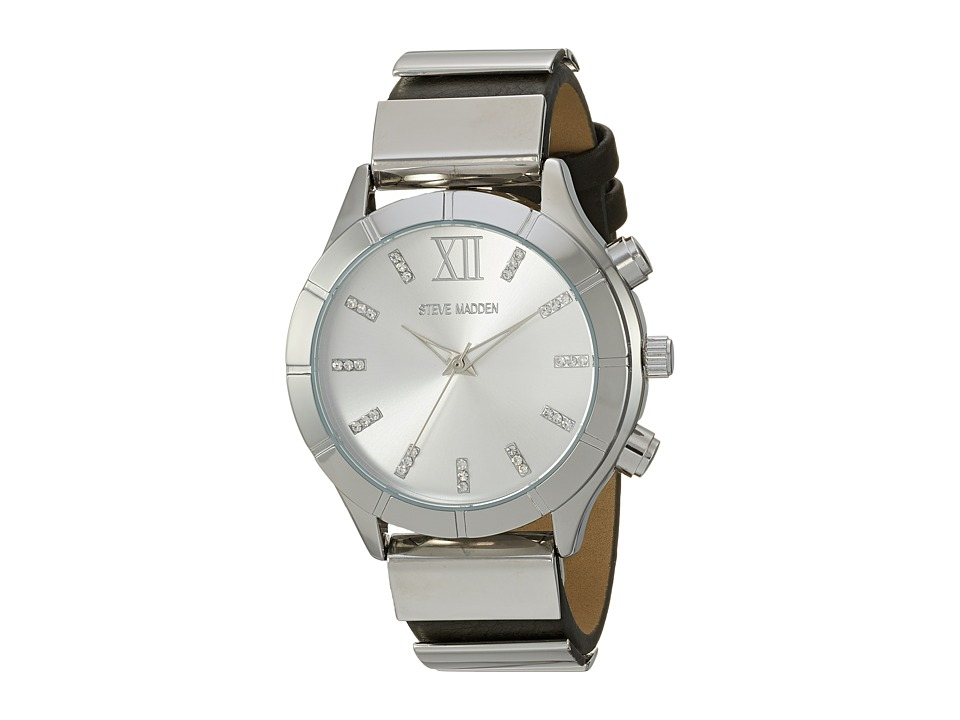 Steve Madden - Leather Band Watch (Silver/Grey) Watches
