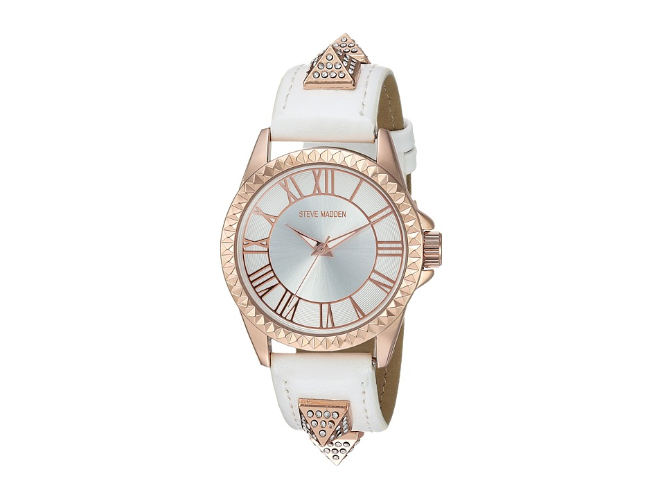 Steve Madden - Alloy Band Watch (Rose Gold/White) Watches