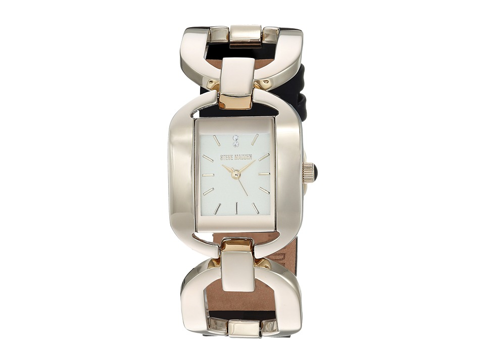 Steve Madden - Alloy Case Band Watch (Gold/Black) Watches