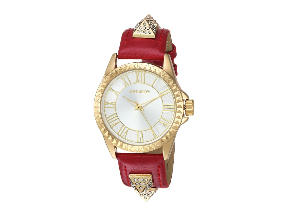 Steve Madden - Alloy Band Watch (Gold/Red) Watches