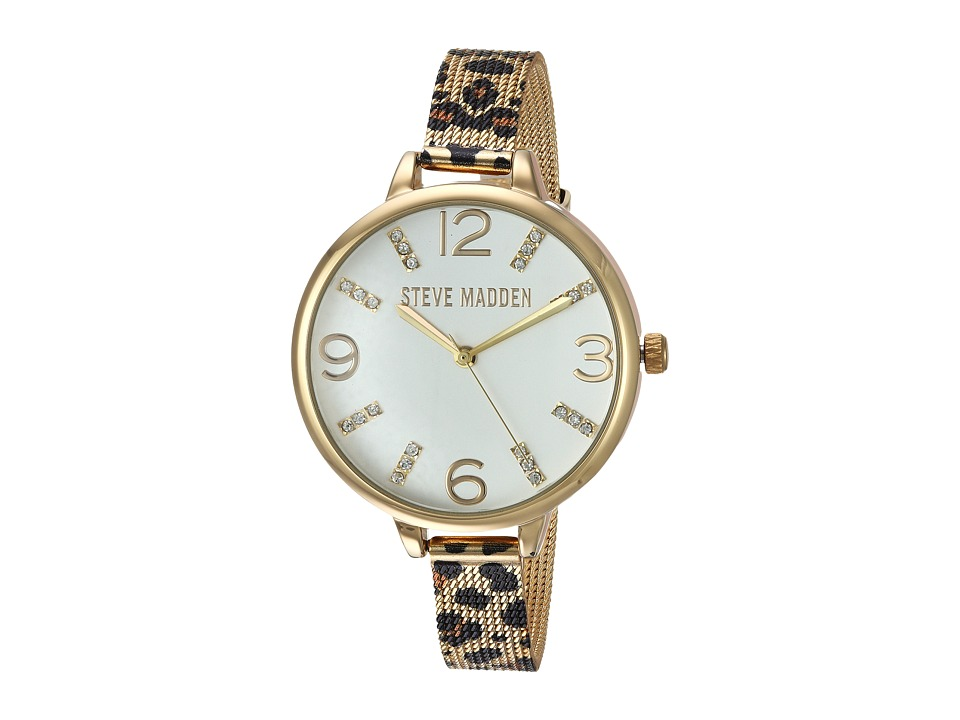 Steve Madden - Print Mesh Watch (Gold/Cheetah) Watches
