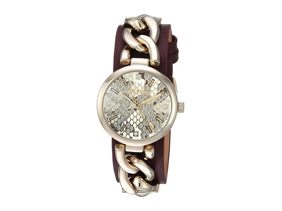 Steve Madden - Alloy Case Band Watch (Gold) Watches