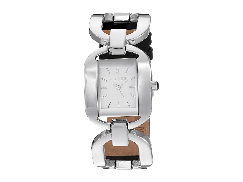 Steve Madden - Alloy Case Band Watch (Silver/Black) Watches