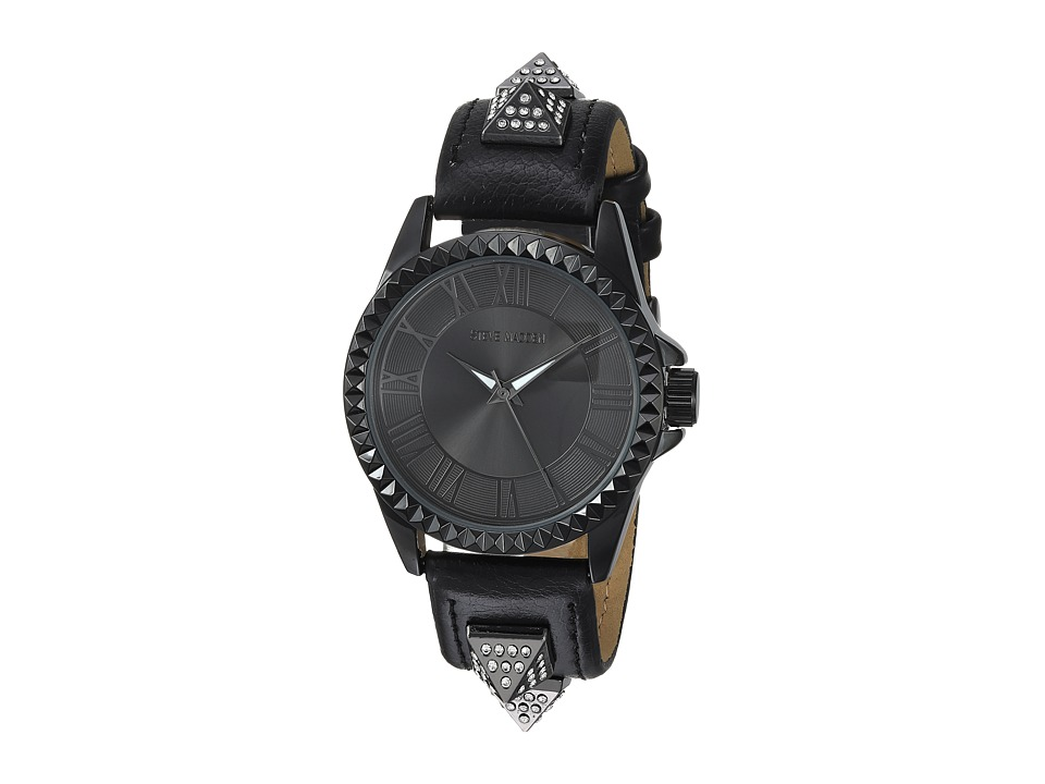 Steve Madden - Alloy Band Watch (Black/Black) Watches