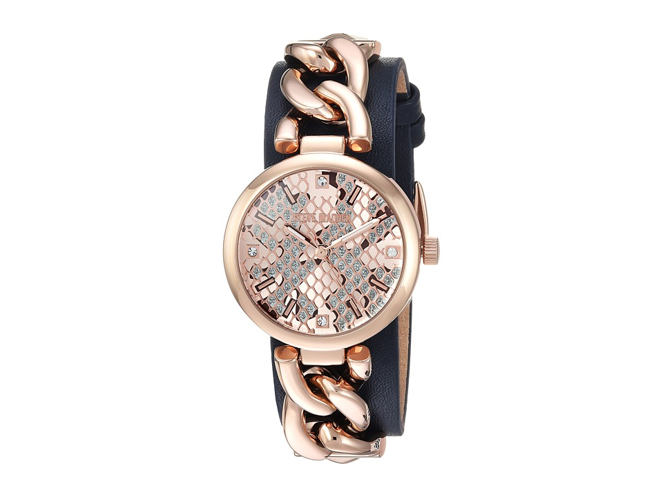 Steve Madden - Alloy Case Band Watch (Rose Gold) Watches
