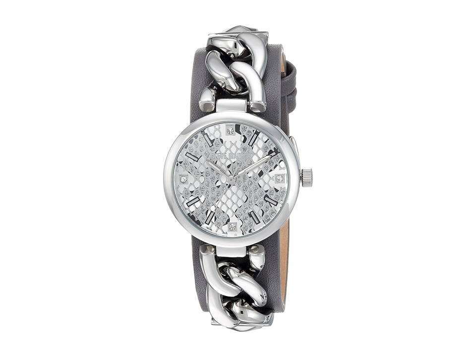 Steve Madden - Alloy Case Band Watch (Silver/Grey) Watches