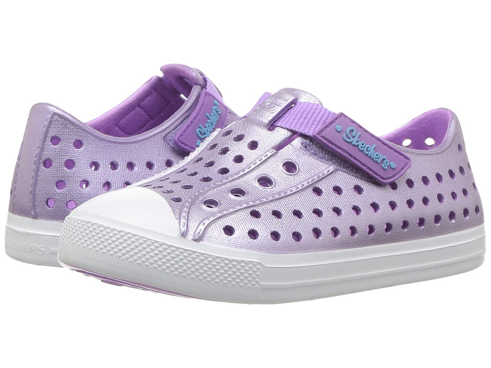 SKECHERS KIDS - Guzman-Sun-N Shiny (Toddler) (Lavender) Girl's Shoes