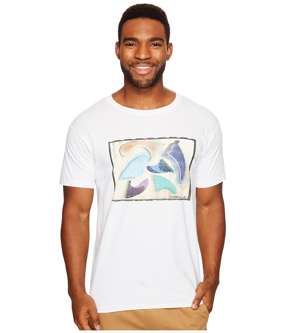 O'Neill - Drivers Short Sleeve Screen Tee (White) Men's T Shirt