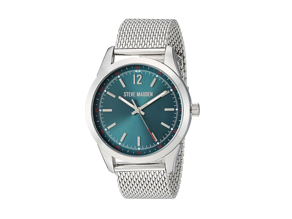 Steve Madden - Dial Mesh Band Watch (Teal/Silver) Watches