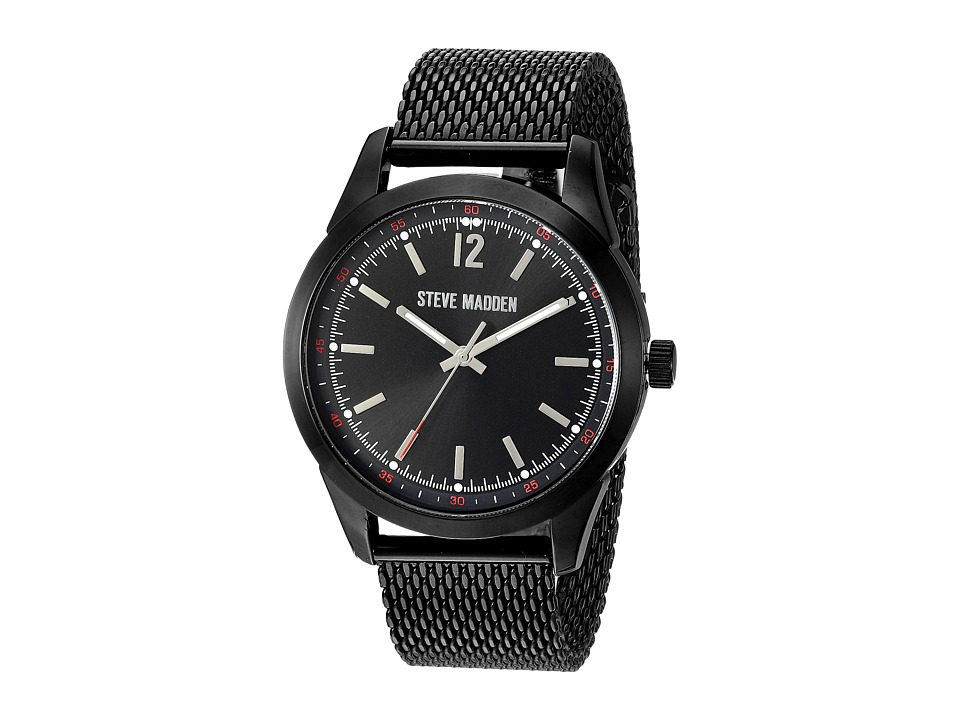 Steve Madden - Dial Mesh Band Watch (Black) Watches