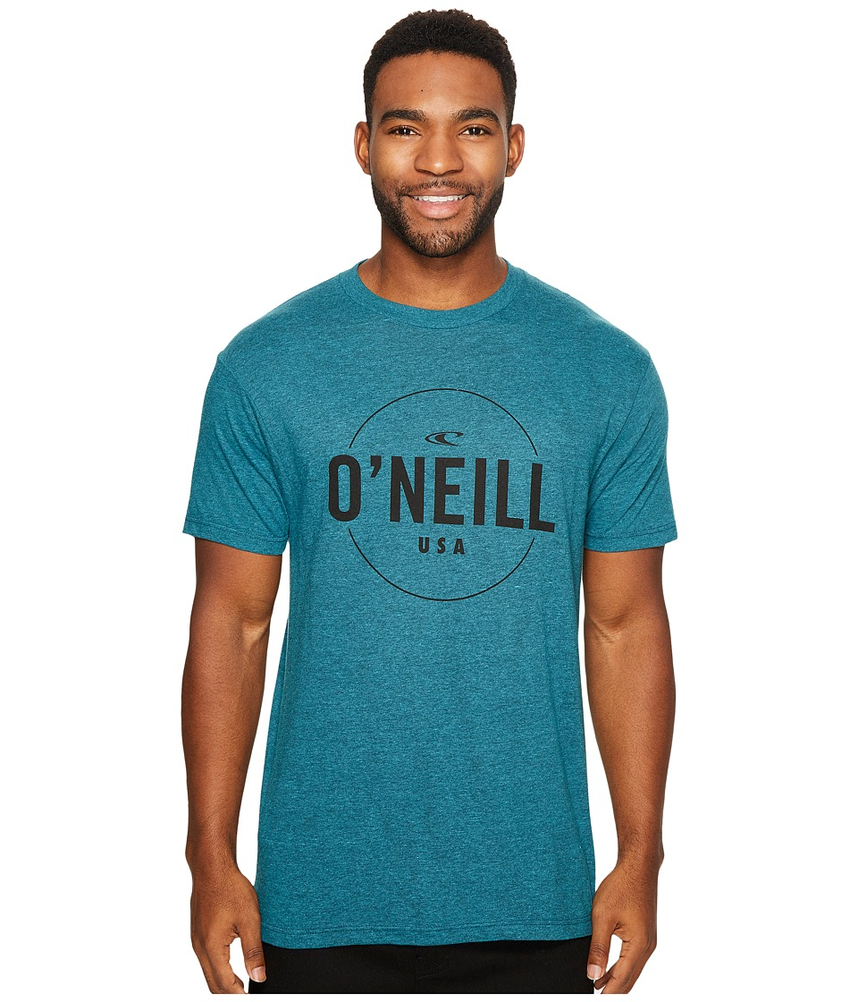 O'Neill - Agent Tee (Cyan Black Heather) Men's T Shirt