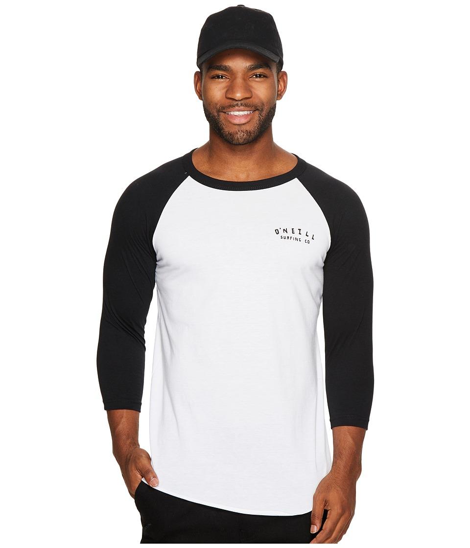 O'Neill - Mortie Raglan Tee (White/Black) Men's T Shirt