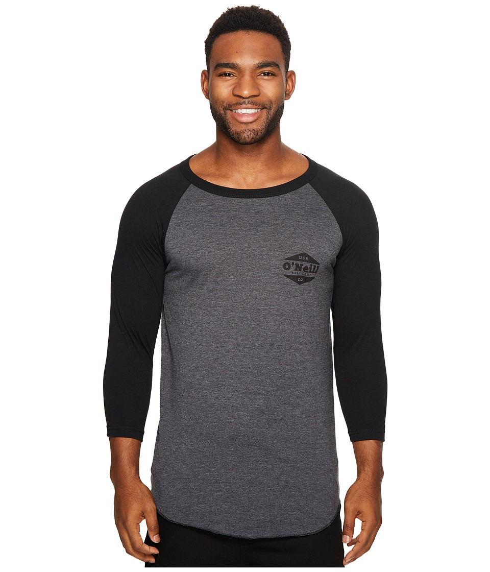 O'Neill - Dialogue Raglan Tee (Grey/Black) Men's T Shirt