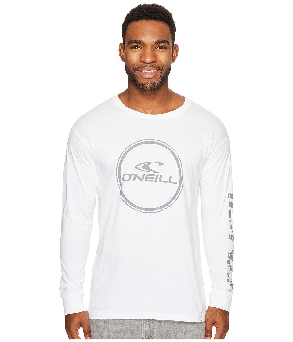O'Neill - Wind Jammer Long Sleeve Tee (White) Men's T Shirt