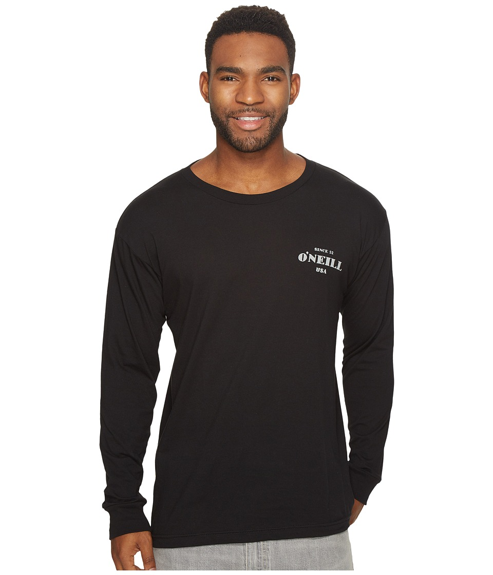 O'Neill - Signage Long Sleeve Tee (Black) Men's T Shirt