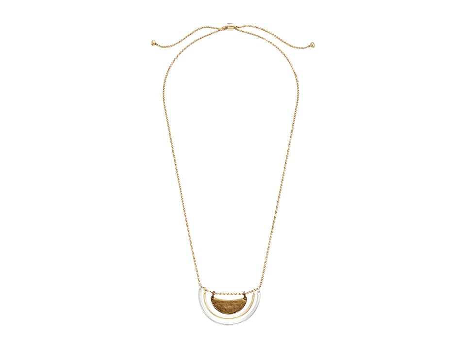 Lucky Brand - Tri-Tone Collar Necklace II (Two-Tone) Necklace