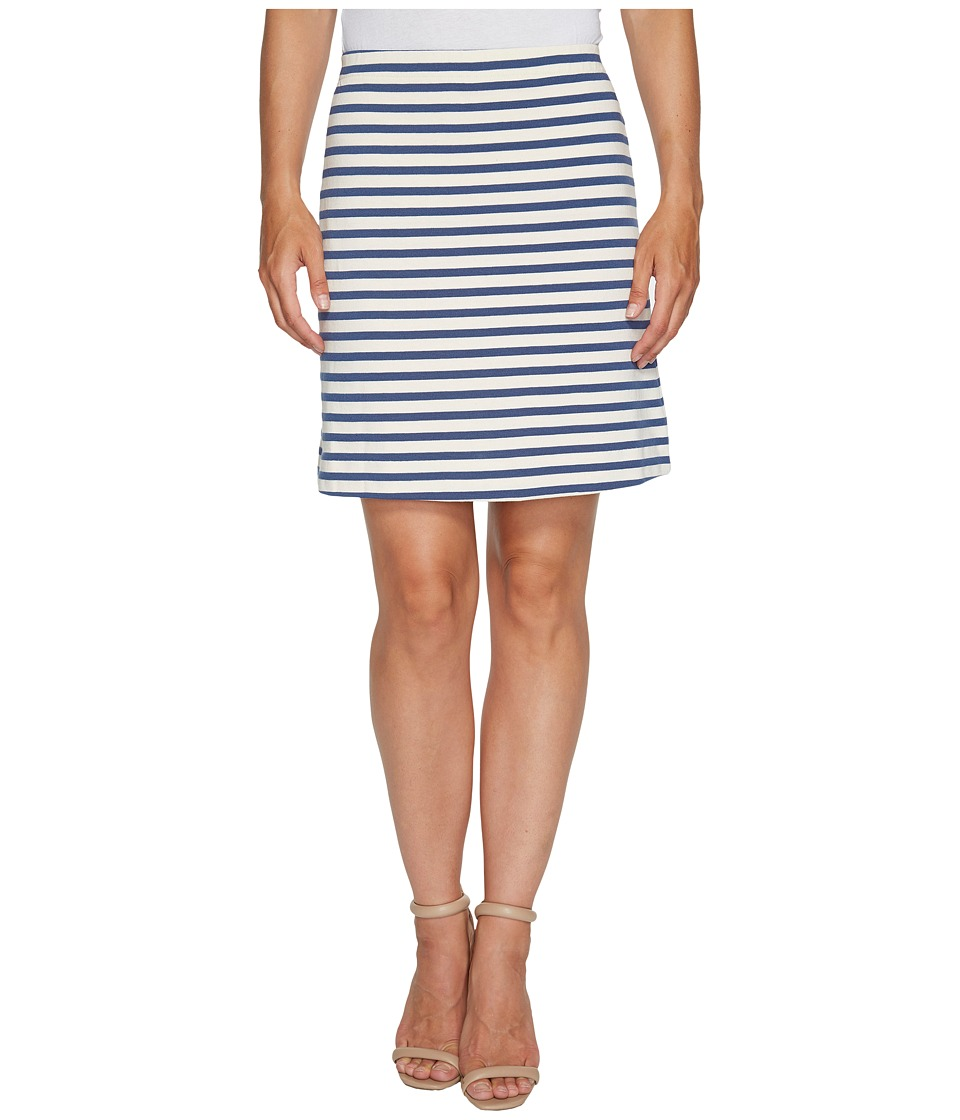Three Dots - Breton Stripe Mini Skirt (Cadet/Cream) Women's Skirt