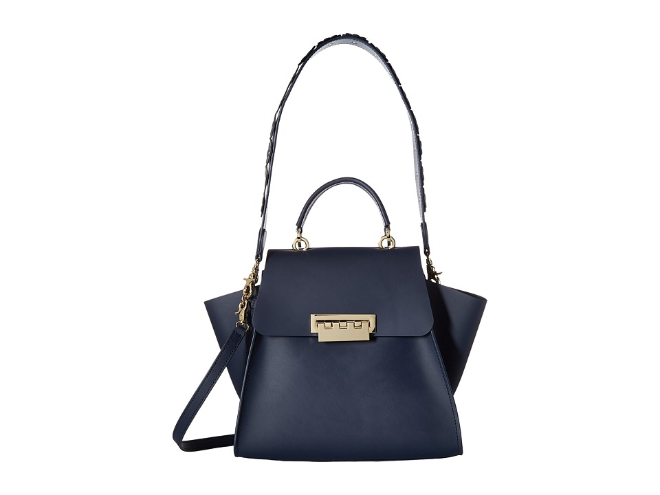 ZAC Zac Posen - Eartha Iconic Top-Handle - Solid w/ Floral Strap (Tide) Top-handle Handbags