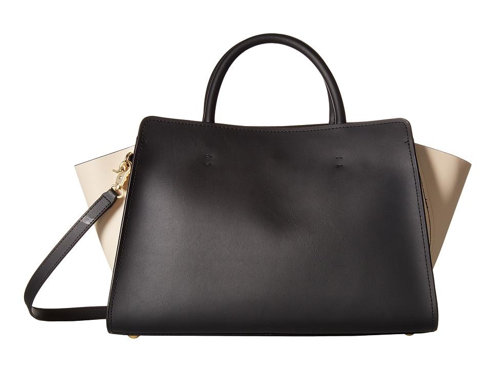 ZAC Zac Posen - Eartha Iconic East/West Satchel - Color Block (Black) Satchel Handbags